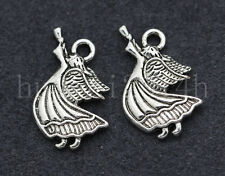 10/40/200pcs Tibetan Silver Lovely Angel Jewelry Finding Charms Pendant 19x14mm