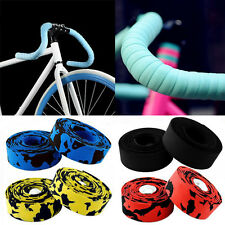 Hot New Cycling Bicycle Cork Handlebar Wrap Bike Grip Tape + 2 Bar Plug 13 Color