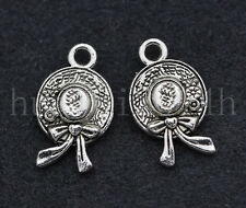 10/50/300pcs Tibetan Silver Flower Hat Jewelry Finding Charms Pendant 17x10mm