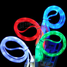 LED Visible Light Micro USB Charge Data Sync Cable For Android Samsung HTC Phone