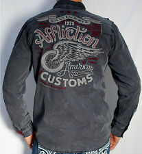 Affliction Black Premium - ABANDON CITY - Men Long Sleeve Dress Shirt - BLACK