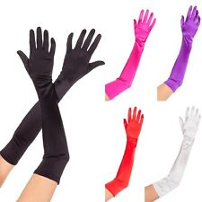 Hot Lady Womens Long Satin Gloves Wedding Bridal Party Opera Costume Prom Gloves