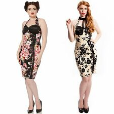 Voodoo Vixen 50s Vintage Style Floral Dinner Cocktail Party Pencil Wiggle Dress