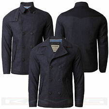 Mens Dissident Jacket Coat Double Breasted Winter Wool Mix 'BAUGHMAN' 1J4867