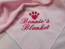Personalised Dog Blanket Choice of colours and designs