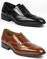 Delli Aldo Men's Lace Up Dress Classic Oxford Shoes w/ Leather Lining M-19125