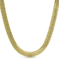 9mm Shiny Gold Plated Herringbone Chain Necklace