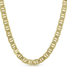 9mm Gold Plated Italian Mariner Mens Necklace Chain