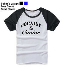 Unisex Cocaine And Caviar Crooks And Castles Long Short Sleeves T-Shirt Tee Tops