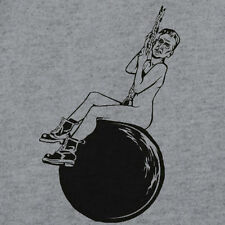 New MILEY CYRUS Parody NIC CAGE WRECKING BALL Shirt, Surreal Nicholas Face Meme