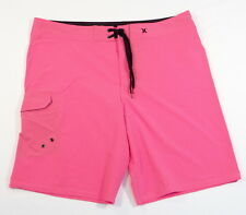 Hurley Signature 4-Way Stretch Pink Boardshorts Swim Trunks Mens NWT