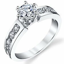925 Sterling Silver Cubic Zirconia 1.15 Carat TW Engagement Ring Wedding Bridal