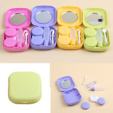 Pocket Mini Contact Lens Case Travel Kit Mirror Container High Quality Small