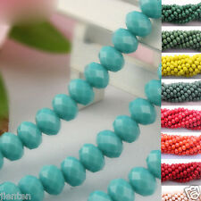 New 8MM Top Quality Czech Glass Faceted Rondelle Bead Jewelry Making 20/50Pcs