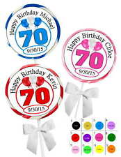 70TH BIRTHDAY PARTY FAVORS STICKERS  for lollipops  goody bags, favor boxes