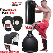 1.7m Freestanding Punch Bag Mitts Heavy Duty Stand Kick Boxing Pad Martial Arts