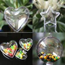 Hot Sale 5Pc Transparent Clear Plastic Christmas Xmas Tree Ornament Gifts Box