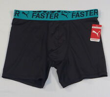 Puma Moisture Control Black & Teal Boxer Brief Underwear Mens NWT