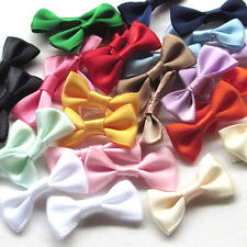 112/560PCS Satin Ribbon Flowers Bows Appliques Wedding Decor Lots Mix Wholesales