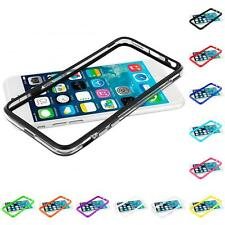 For Apple iPhone 6 Plus 5.5 TPU Bumper Frame Metal Buttons Skin Case Cover
