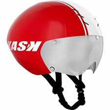 KASK BAMBINO RED HELMET (INCLUDES VISOR): Time Trial Tri TT Bike
