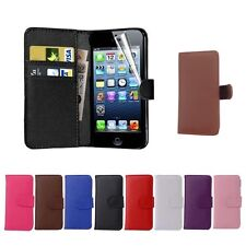 For iPhone 4/5/6 Plus Samsung S5 6 PU Flip Leather Wallet Card Holder Case Cover
