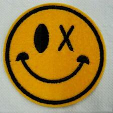 Blink Eye Smile Face Iron on Sew Patch Cute Applique Badge Embroidered Biker Kid