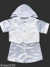 Boy Baby,Toddler Christening Baptism Outfit, Dove,  White, X-Small to 4T