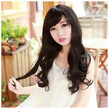 New Women's Fashion Long Wavy Curly Hair Cosplay Costume Party Full Wig/Wigs+Cap