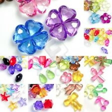 Wholesale Transparent Acrylic Beads Assorted Jewelry Findings