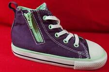 NEW Girl's Toddler CONVERSE ALL STAR 746267F Purple Zipper Lace Sneakers Shoes