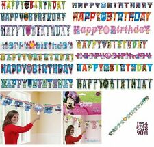 Add An Age Letter Banner (Childrens Characters) Party Decorations / Themes