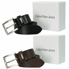 Mens Real Leather Belt by Calvin Klein 'Mino 3'