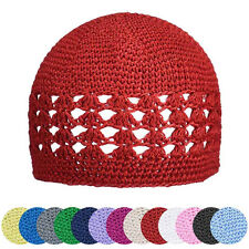 Cute Newborn Baby Beanie Hat Girl Kids Crochet Pure Color Knitted Cap Promotion