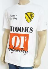 Crooks & Castles 01ST Infantry Graphic Tee Mens White T-Shirt New NWT