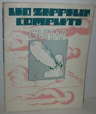1975 Led Zeppelin Complete Guitar Song Book 35+ Songs Covered by Album