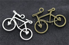 8/30/150pcs Tibetan Silver exquisite bicycle Jewelry Charms Pendant 31x23mm