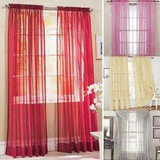 Home Door Window Curtain Drape Panel Scarf Assorted Solid Sheer Voile Lot Colors