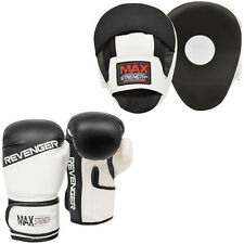 MMA Focus Pad & Boxing Gloves Set Muay Thai Training Hook Jab Punching Fight