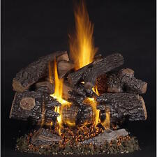 """TimberFire Vented Gas Logs 18"""", 24"""", 30"""" Natural or Propane Gas"""