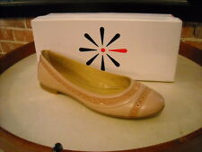Isaac Mizrahi Sage Leather Captoe Pink Ballet Flats New
