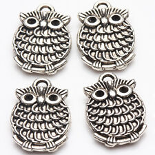5/20Pcs Tibetan Silver Carving Eagle Owl  Charms Pendants Fit Jewelry Findings
