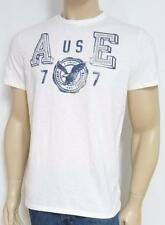 American Eagle Outfitters AEO 77 Mens White Embroidered T-Shirt New NWT