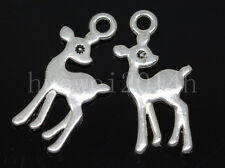 30/100/500pcs Tibetan Silver small deer Alloy Jewelry Charms Pendant DIY 21x10mm