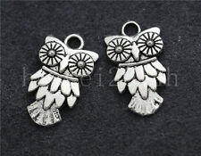 10/40/200pcs Tibetan Silver Lovely owl Alloy Jewelry Charms Pendant DIY 20x11mm