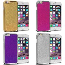 For iPhone 6S Plus (5.5) Metal Bling Glitter Shiny Hard Skin Case Cover