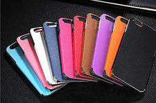 hot Frame Luxury PU Leather Chrome Hard Back Case Cover For Apple iPhone 5 5s 5G
