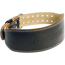 """Harbinger 4"""" Padded Leather Weight Lifting Belt"""