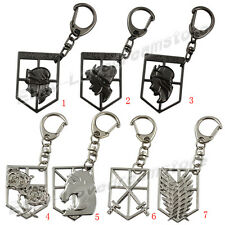 Attack on Titan Affiliation Corps & Wall Badge Metal Key Ring Chain