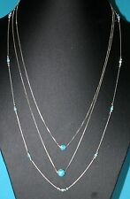 Layered Necklaces Sterling Silver 925 Chains 6mm, 8mm OPAL beads & Beads Station